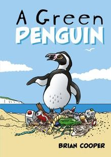 A green penguin