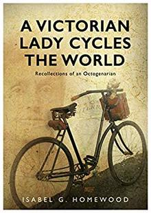 A victorian lady cycles