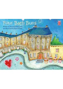 Four bath buns