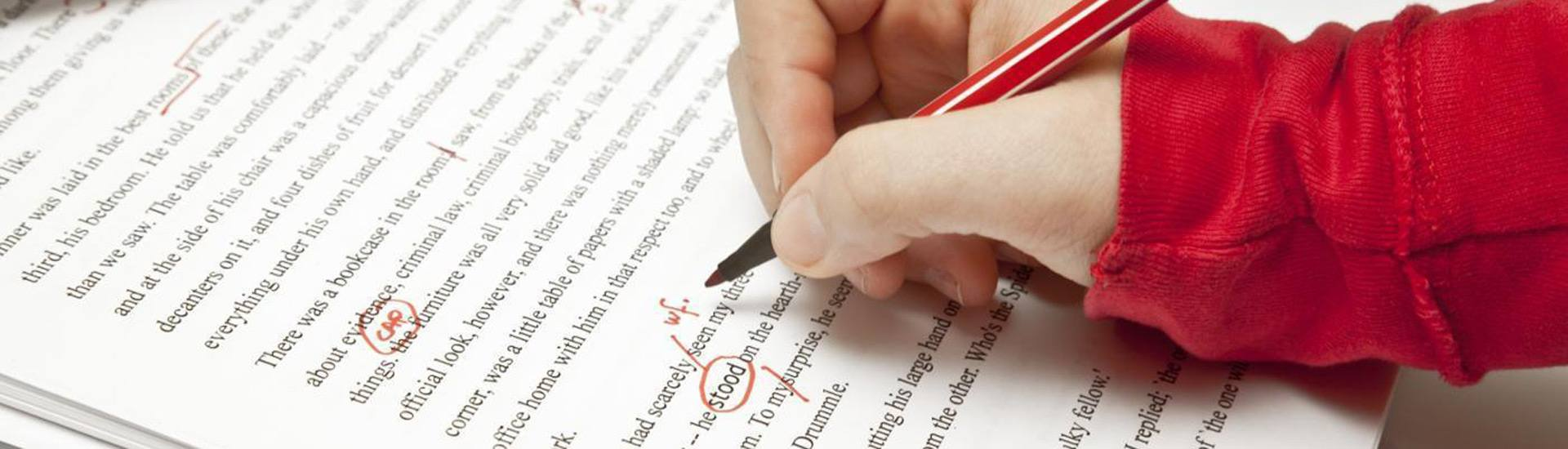 Proofreading and copy editing